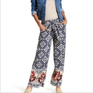 Angie Side-Tie Wide Leg Pant